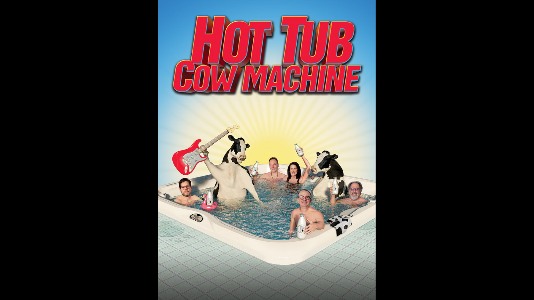 Hot Tub Cow Machine Poster