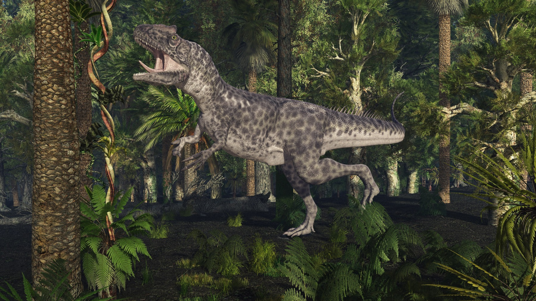 ALLOSAURUS IN THE JUNGLE