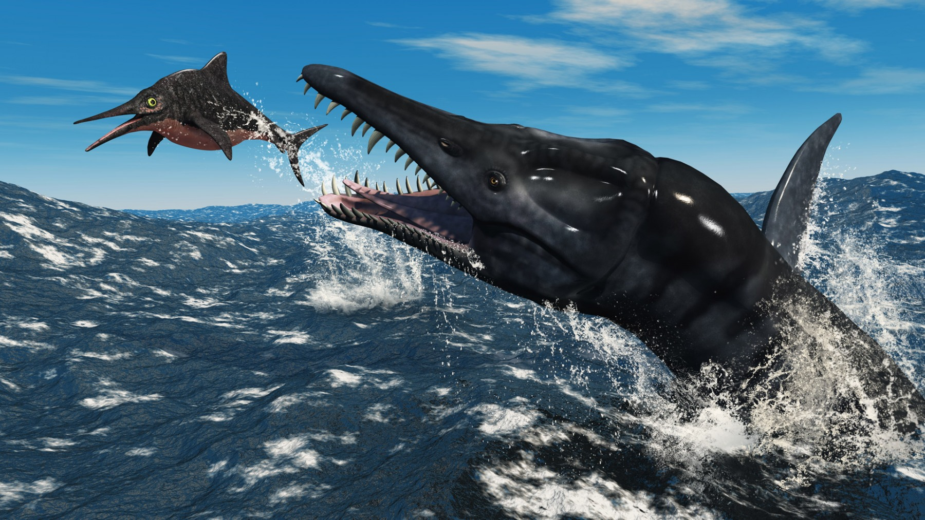 LIOPLEURODON ATTACKING