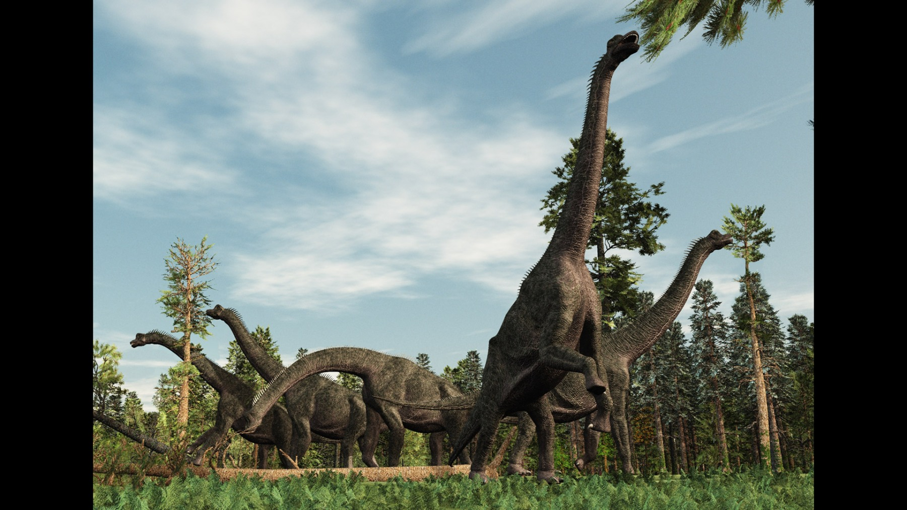 BRACHIOSAURUS EATING