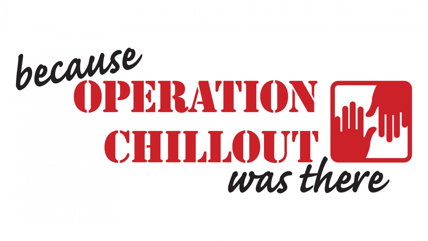 PROMOTIONAL USE OF OPERATION CHILLOUT LOGO