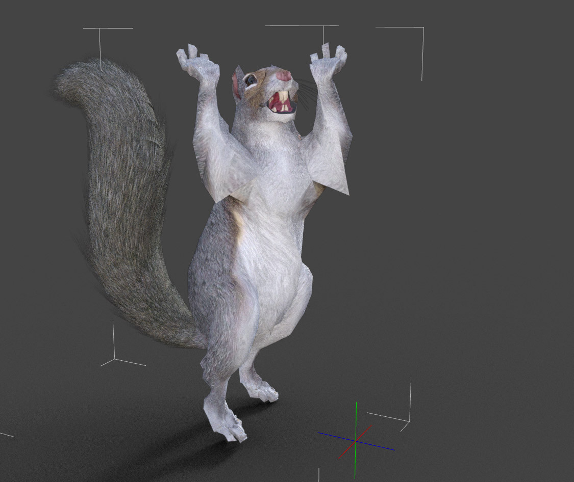 LOW REZ POSED SQUIRREL