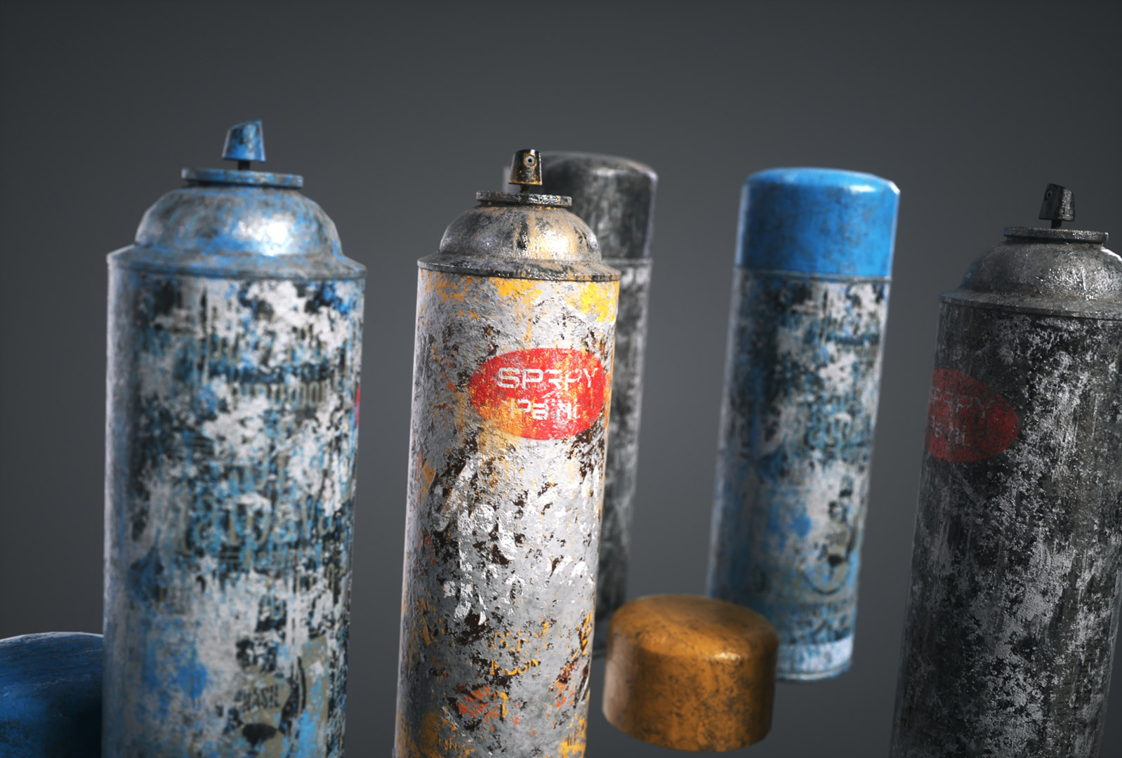 PURCHASED 3D SPRAY CAN MODELS