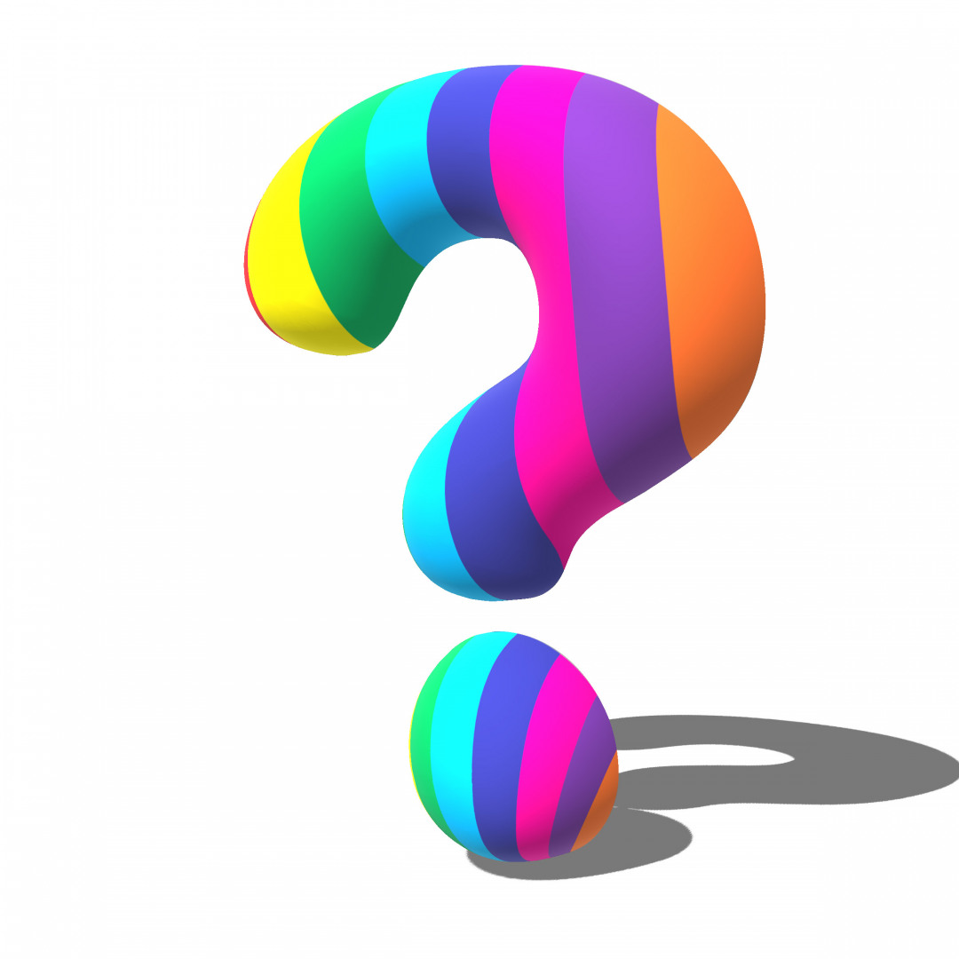 QUESTION MARK EXTRUDED IN PHOTOSHOP 3D