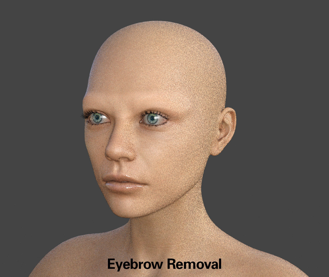EYEBROWS REMOVED